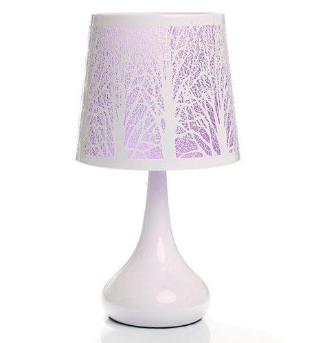 Lámpara táctil White Árbol Rosa