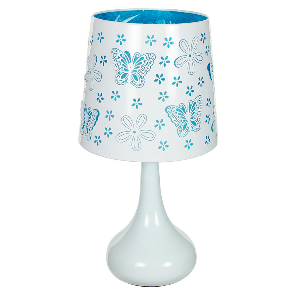 Lámpara táctil White Mariposas Azul