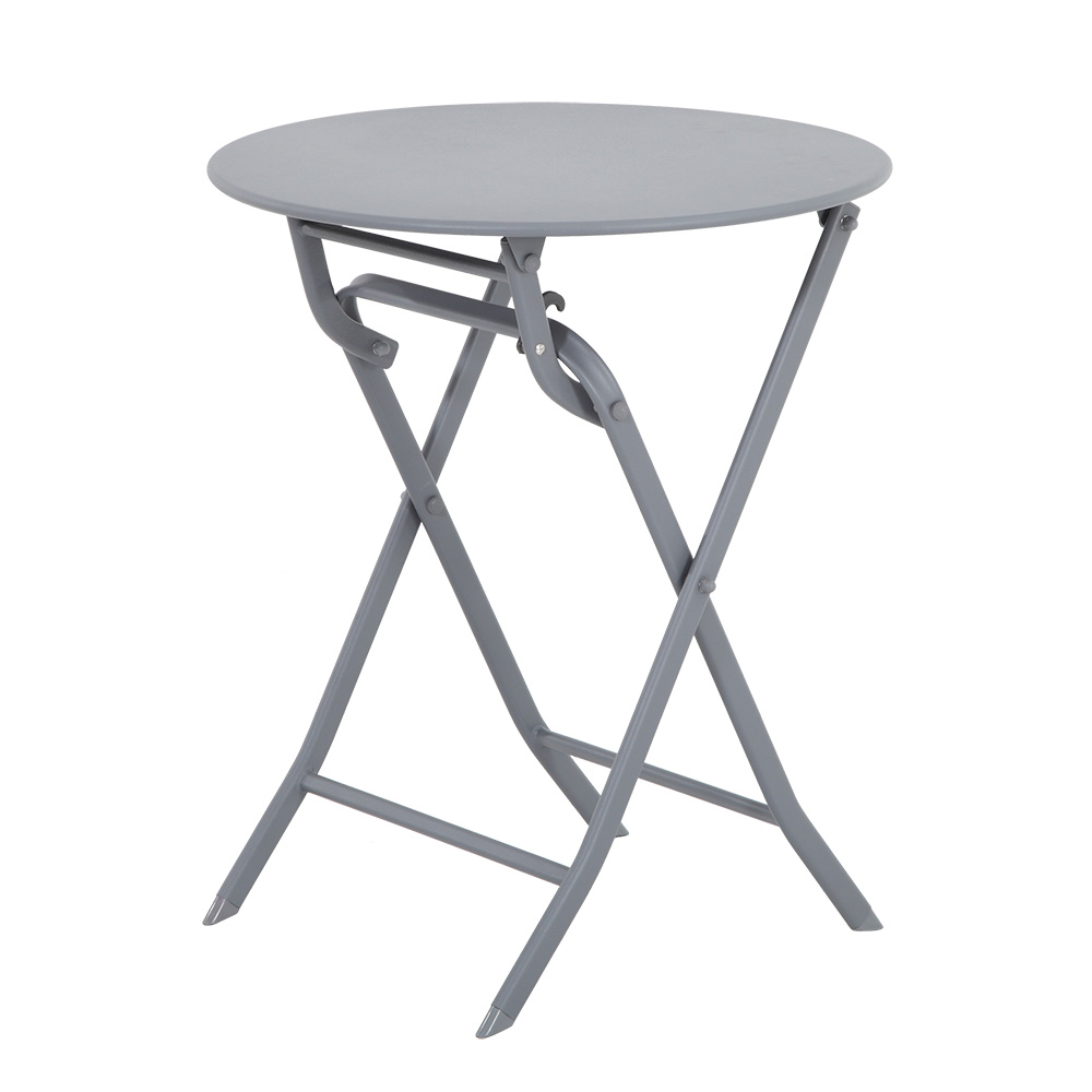 Mesa Plegable Greensboro Ø60cm Gris