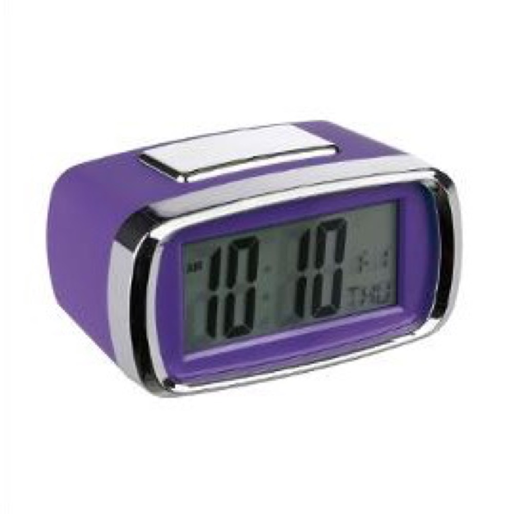 Reloj despertador digital Lila