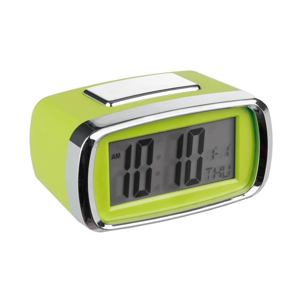 Reloj despertador digital Verde