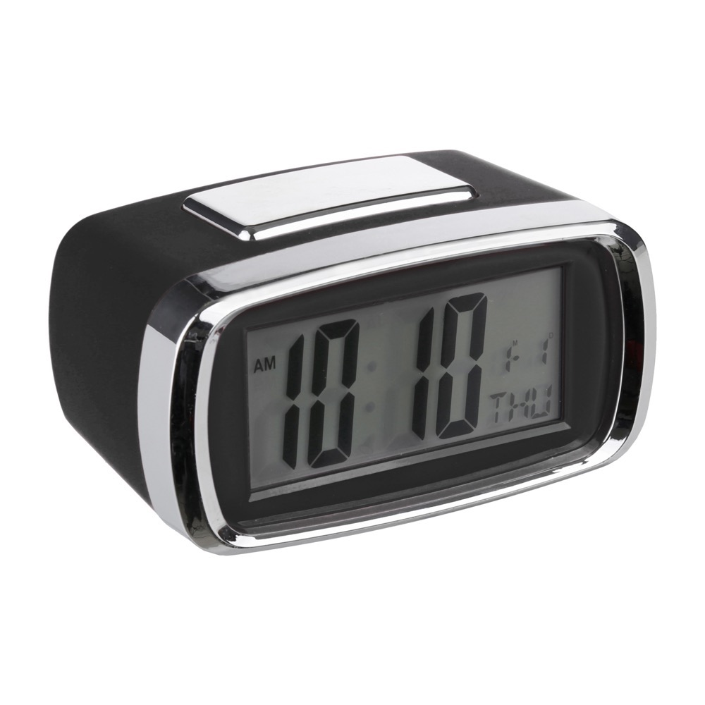Reloj despertador digital Negro