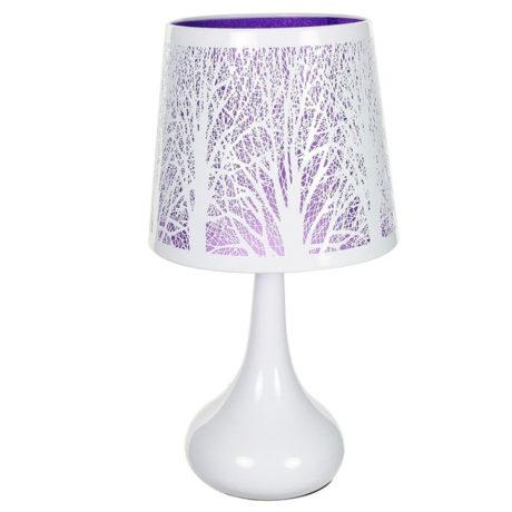Lámpara táctil White Árbol Lila