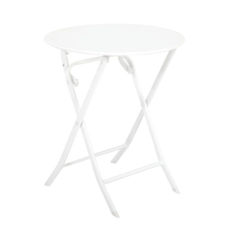 Mesa Plegable Greensboro Ø60cm Blanco