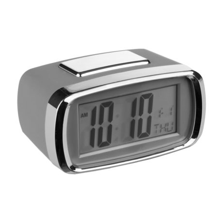 Reloj despertador digital Gris